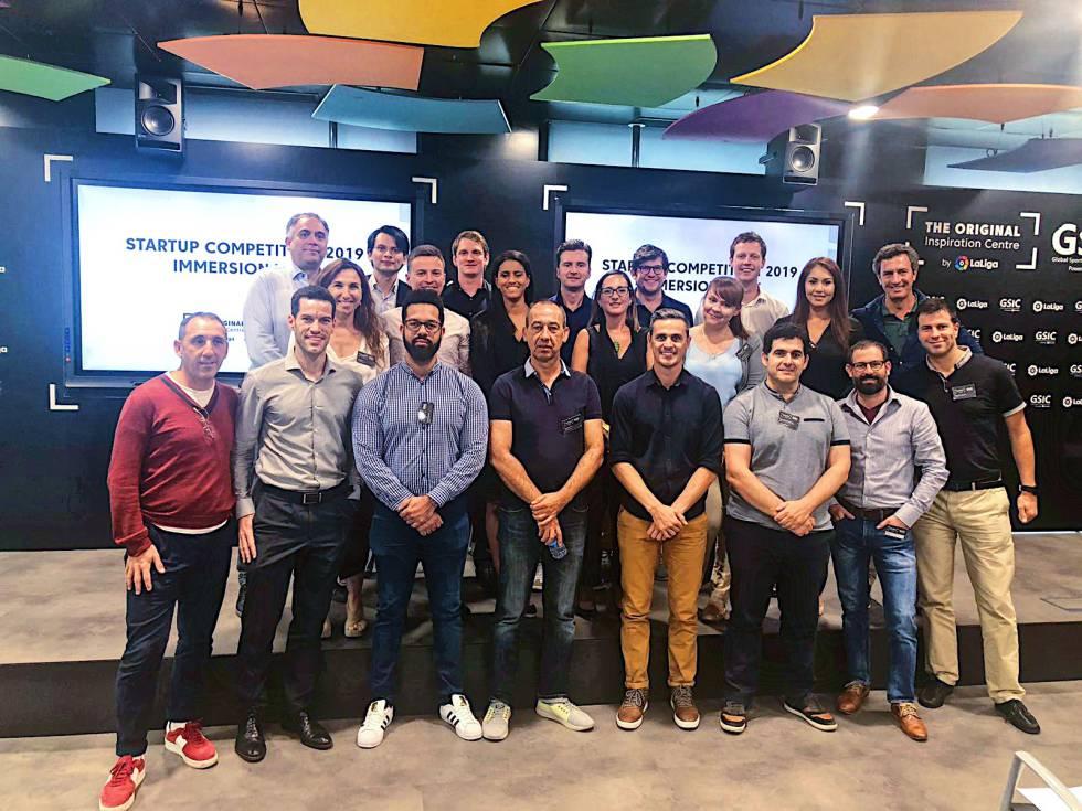 Algunos de los ganadores de la Startup Competition 2019 que organizaron LaLiga y el GSIC.