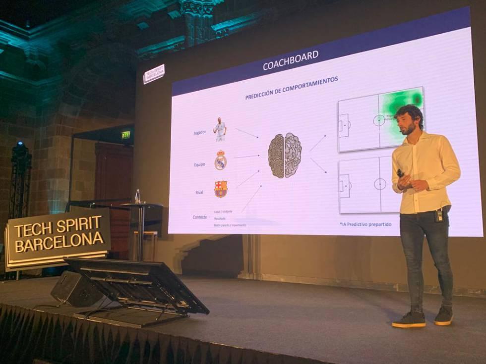 Esteban Granero, en una presentación de su herramienta, Olocip, en Barcelona.