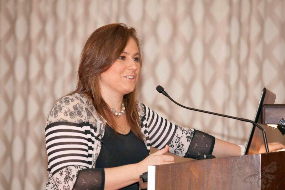 Judit Polgar, en 2016, durante el congreso de Vitoria sobre la igualdad de las mujeres en el ajedrez