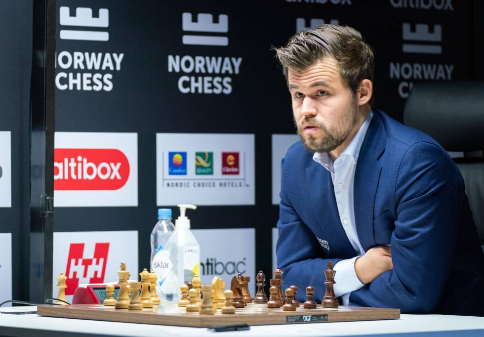 Magnus Carlsen,hace mes y medio, en el torneo de Stavanger (Noruega)