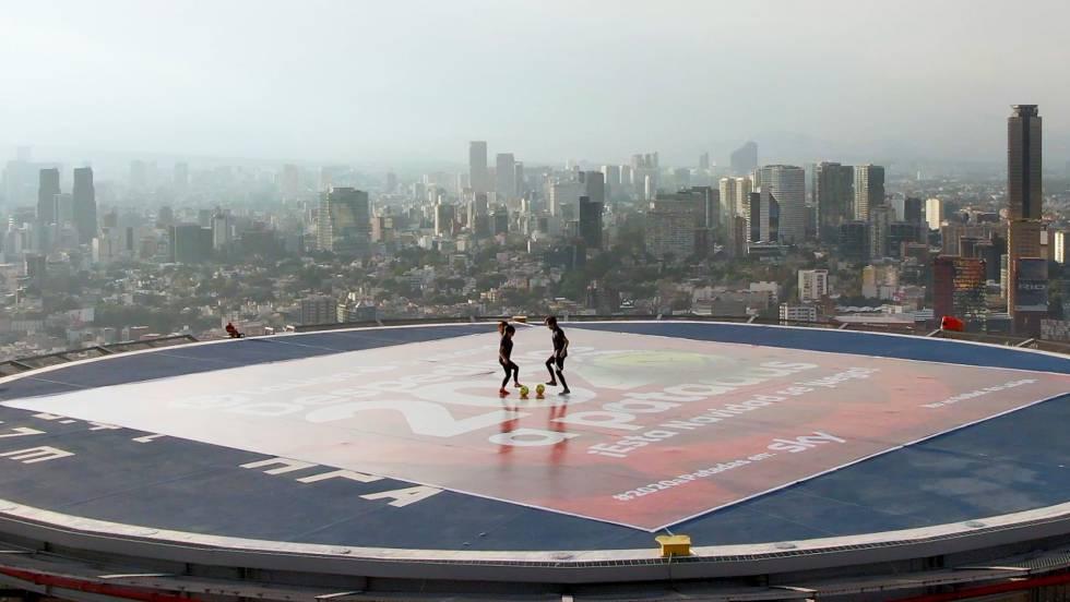 Gambar aksi La Liga di Meksiko pada kesempatan kampanye