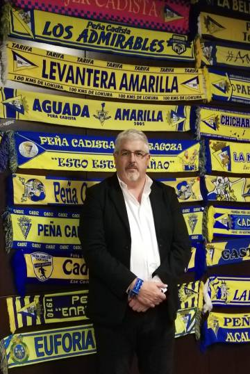 Juan Antonio García, presidente de la federación de clubes del Cádiz CF.