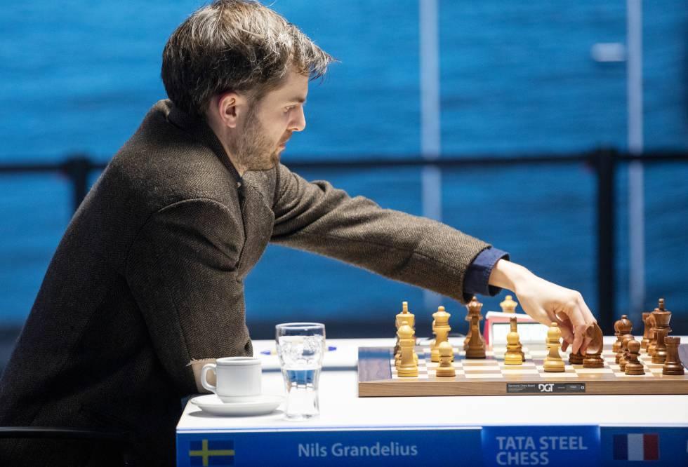 Nils Grandelius, durante su partida de hoy