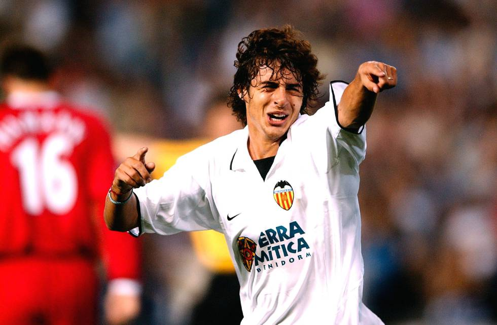 El 'Payaso' Aimar durante su etapa en el Valencia CF.