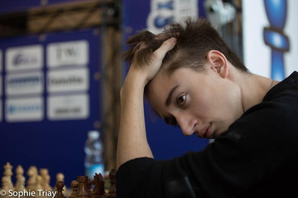 Danil Dúbov, en el abierto de Gibraltar de 2018