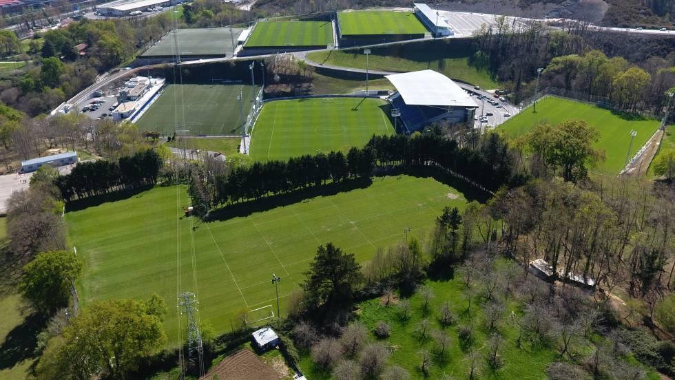 Vista aérea de las instalaciones de Zubieta.