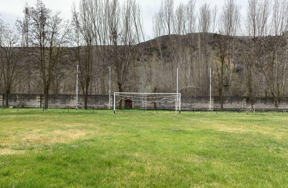 Campo del CD Sepúlveda, el primer equipo en el que jugó Jorge de Frutos.