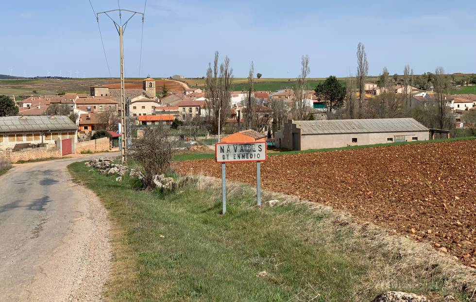 Vista de Navares de Enmedio, en la provincia de Segovia.