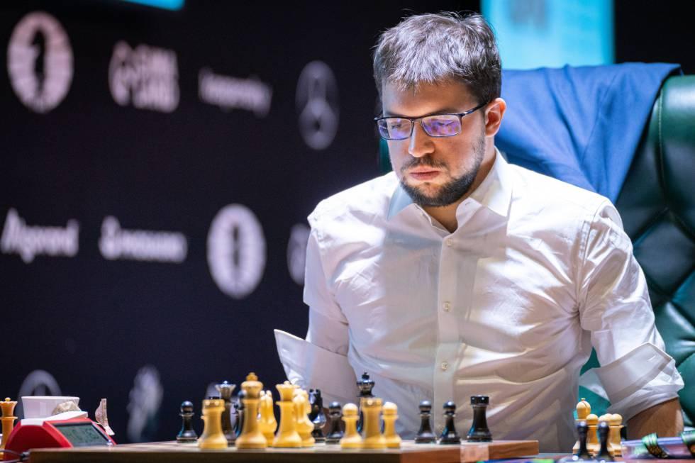 Vachier-Lagrave, durante su partida de hoy con Caruana