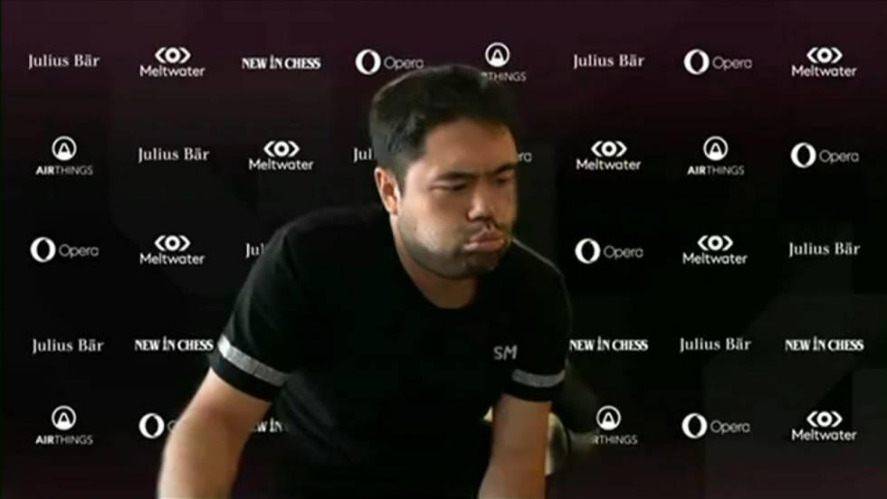 Hikaru Nakamura, durante una de las partidas de la final con Carlsen