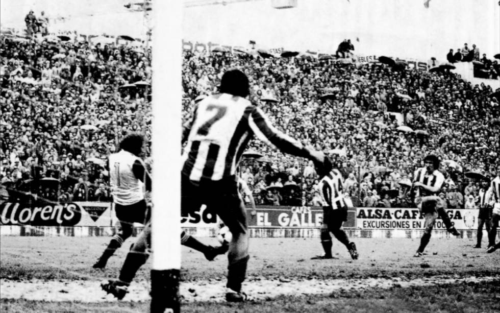 Moment in which the San Sebastian Zamora scored the goal that gave the title to Real Sociedad in the last minute of the 198081 season.