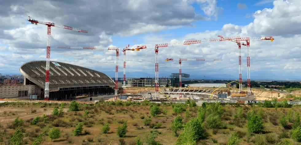 El Wanda Metropolitano en obras en 2015.