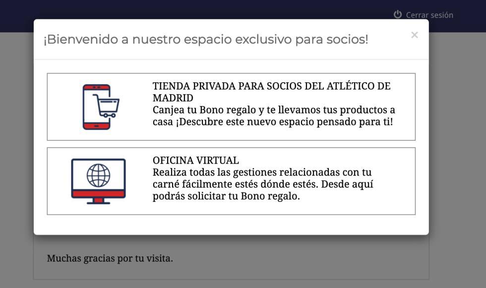 La nueva plataforma de acceso digital para los socios del Atlético de Madrid. Uno de los últimos proyectos del equipo de René Abril.