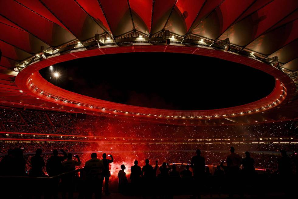 Imagen, antes de la pandemia, de un estadio