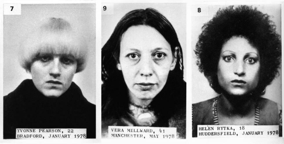 Fotografías de carnet de algunas de las víctimas de Sutcliffe.