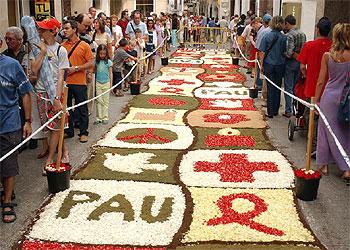 Alfombras de flores en el corpus christi edici n impresa el pa s - Alfombras en barcelona ...