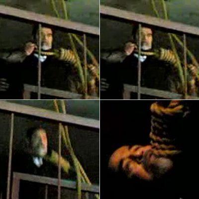 Imágenes del ahorcamiento de Sadam Husein grabadas en un vídeo con un teléfono móvil y difundidas en el portal  YouTube.