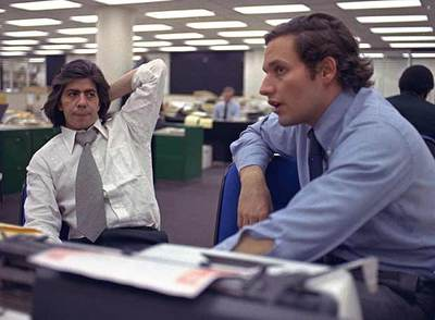 Los periodistas Carl Bernstein, izquierda, y Bob Woodward, que destaparon el 'caso Watergate' en 'The Washington Post'.