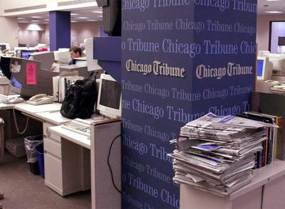 Redacción central del  Chicago Tribune  en Chicago.
