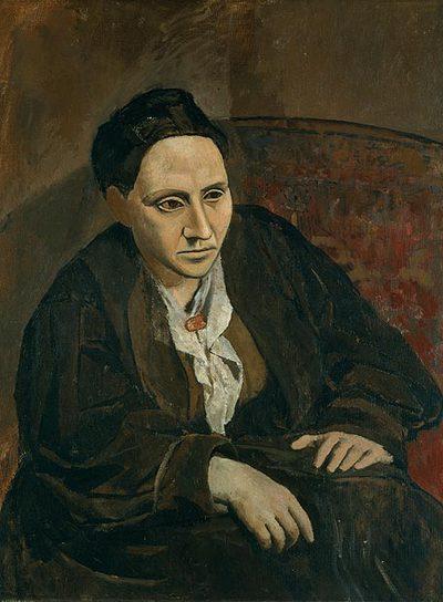Gertrude Stein  (1906), de Pablo Picasso, obra del Metropolitan Museum de Nueva York.