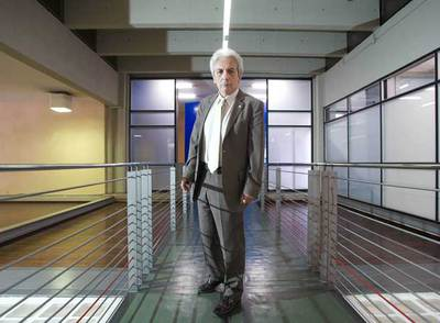 Albert Fert, en la Universidad Autónoma de Barcelona, que le invistió doctor  honoris causa .