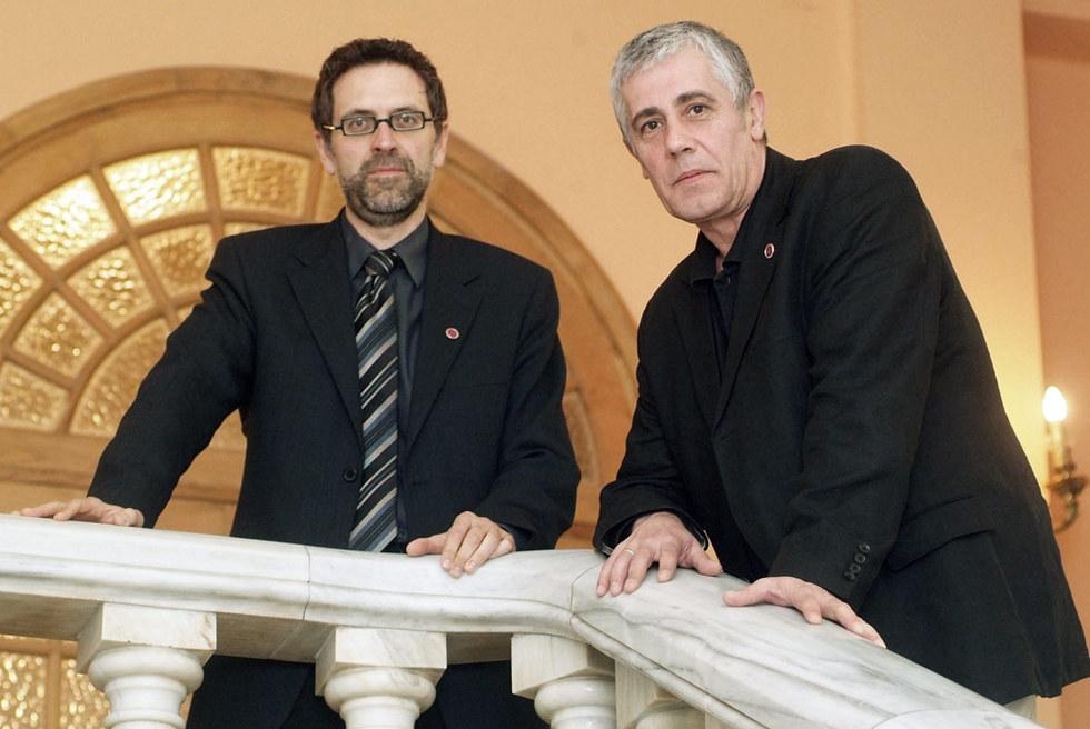 Los periodistas Rodolfo Irago y Daniel Anido, de la Cadena