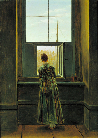 Woman at the Window  (1822), de Caspar David Friedrich (1774-1840), en el Metropolitan de Nueva York.
