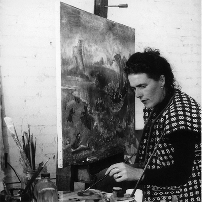Leonora Carrington, en 1956.