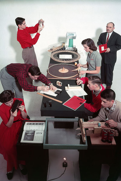 Clase en el Massachusetts Institute of Technology en 1957.