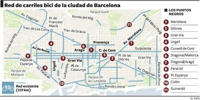 Mapa Carril Bici Barcelona.El Carril Bici Tiene Los Mismos Puntos Negros Desde Hace
