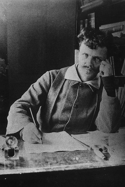 August Strindberg (Estocolmo,  1849-1912).