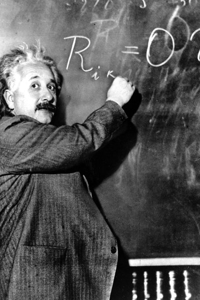 Albert Einstein, en el Instituto Carnegie de Pasadena (California), en 1931.
