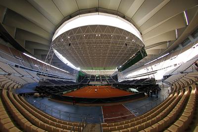 vista del estadio de la cartuja de sevilla durante un del equipo argentino