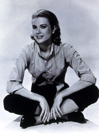 Grace Kelly, durante el rodaje de La ventana indiscreta.