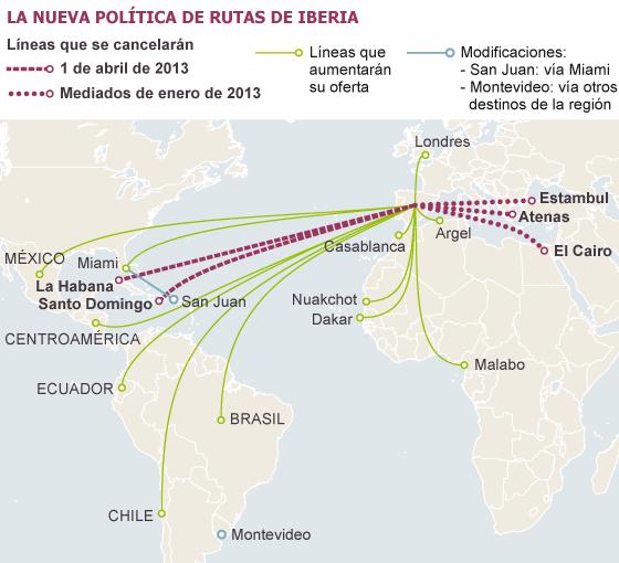 Iberia deja de volar a atenas el cairo estambul santo domingo y la habana econom a el pa s - Volar a puerto rico ...