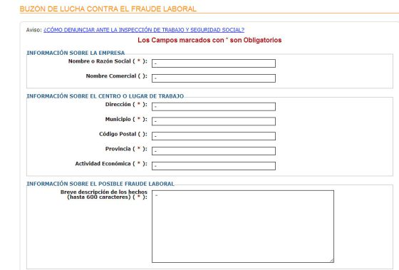 Empleo crea un buz n an nimo para denunciar casos de for Pagina web del ministerio