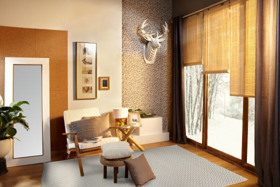 C mo elegir una buena cortina o alfombra este invierno - Cortinas y visillos leroy merlin ...