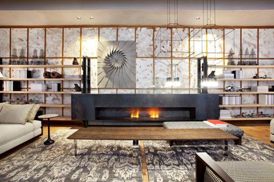 Chimeneas que calientan y decoran vivienda el pa s for Salones con chimeneas electricas
