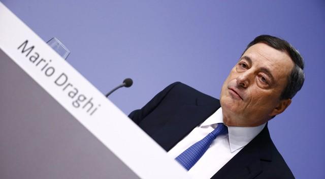 Mario Draghi, na coletiva de imprensa desta quinta-feira.