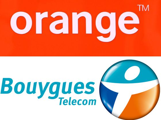 Logos de Orange y Bouygues Telecom.