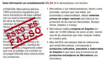Spanish supermarkets: Mercadona reveals suppliers to fight