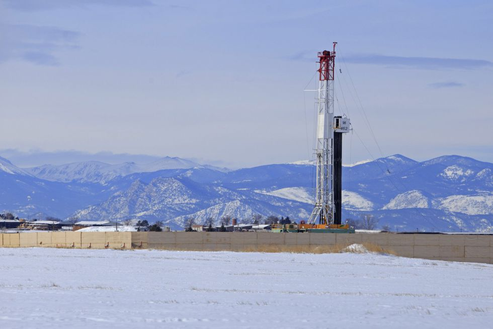 Torre de perforación 'fracking' en Weld County (Colorado, EE UU).