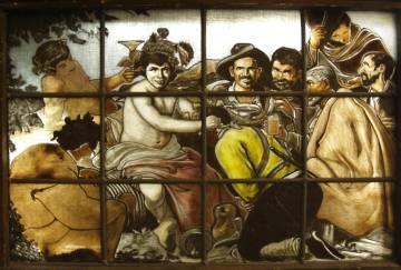 Vidriera que recrea 'El triunfo de Baco', de Velázquez, de Artevisa.