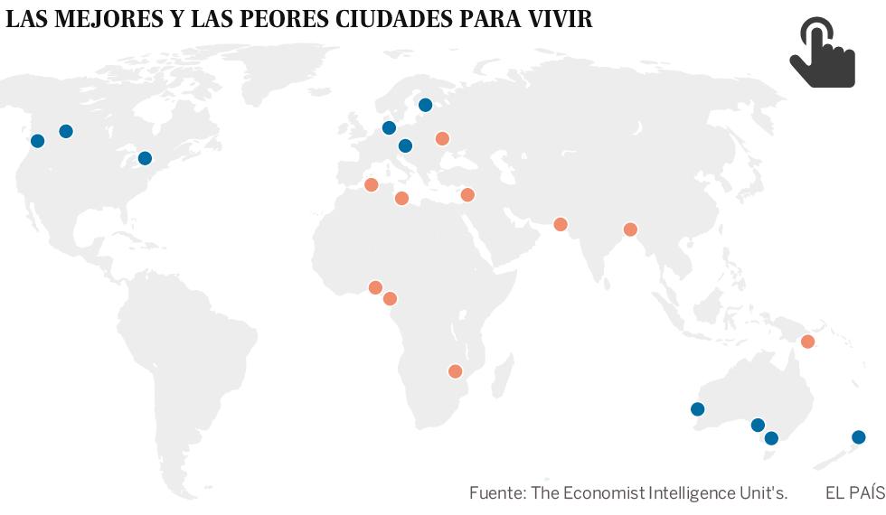 Las 10 mejores ciudades del mundo para vivir