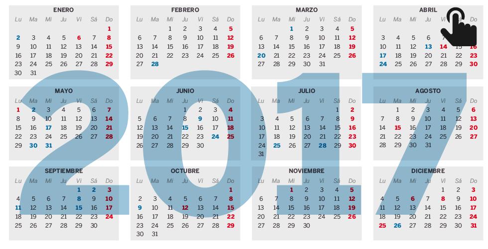 Calendario 2017 Colombia.El Calendario Laboral De 2017 Ya Es Oficial Nueve Festivos