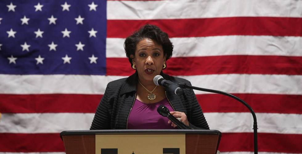 La fiscal general, Loretta Lynch