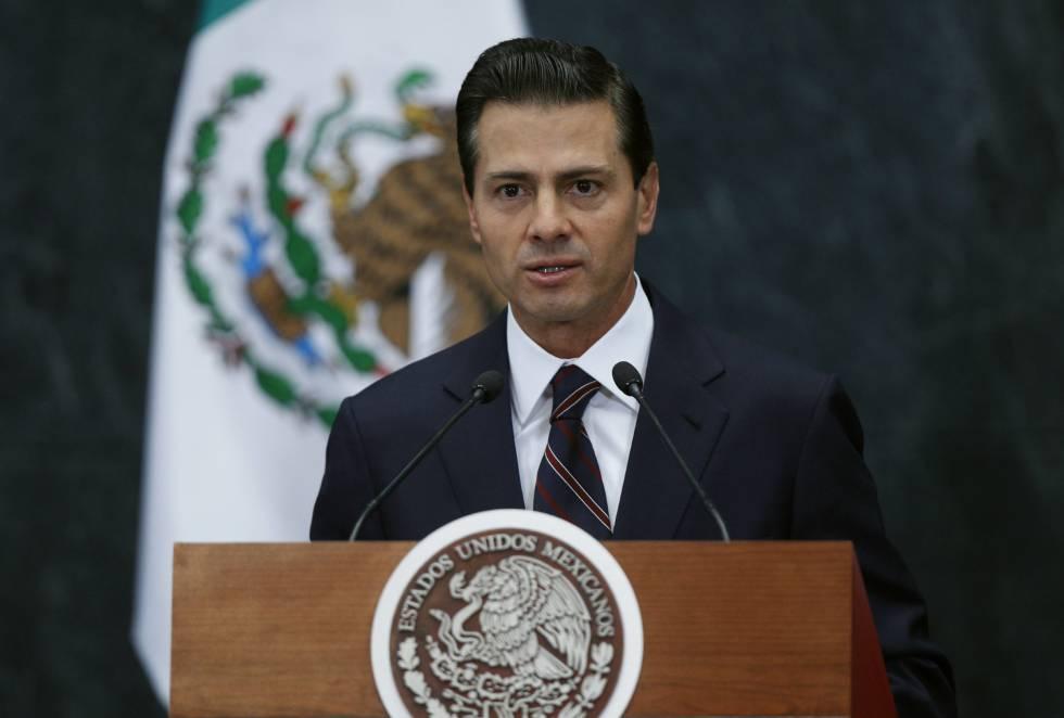 El presidente mexicano, Enrique Peña Nieto, este miércoles en Los Pinos