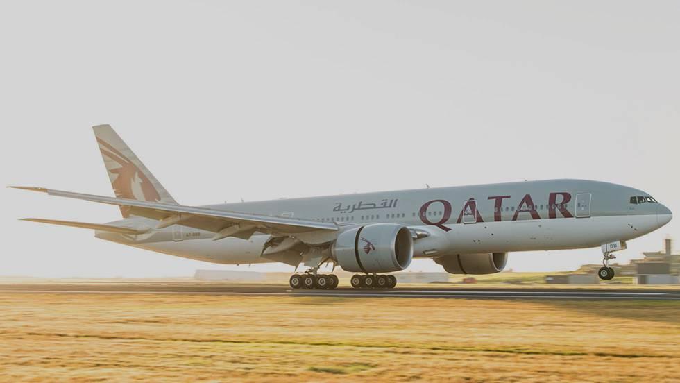 O avião que estreia o trajeto entre a capital de Nova Zelândia e Doha.