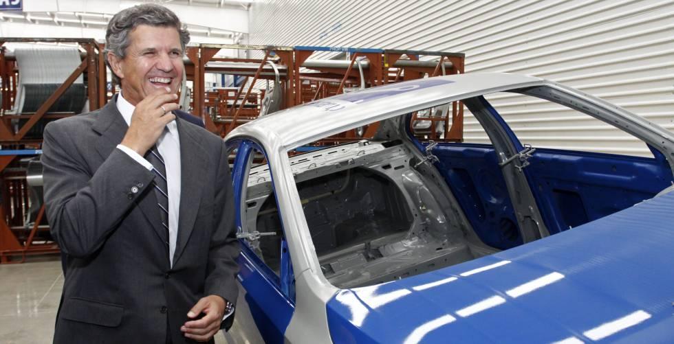 El presidente de Gestamp, Francisco J. Riberas, en la inauguración de una planta de la empresa en México en 2015