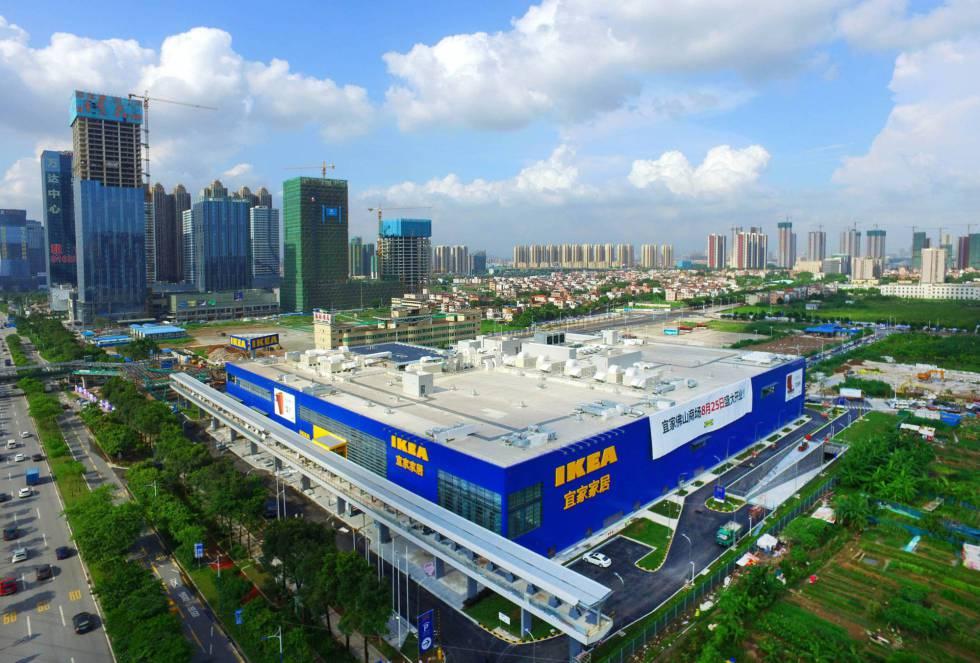 Una nueva tienda de ikea en Foshan, al sur de China